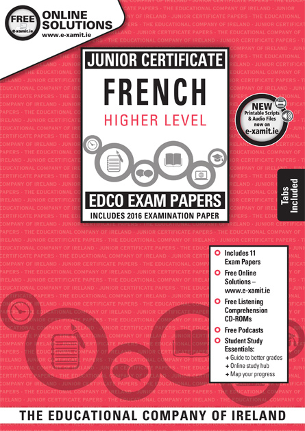edco 39 s junior certificate french hl exam paper plus listening comprehension cd roms. Black Bedroom Furniture Sets. Home Design Ideas
